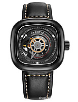 cheap -NIBOSI Men's Sport Watch Automatic self-winding Stylish Casual Large Dial Genuine Leather Black / Red / Brown Analog - Black Red Brown