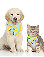 cheap -Dog Cat Bandanas & Hats Dog Bandana Dog Bibs Scarf Fruit Casual / Sporty Cute Party Sports Dog Clothes Adjustable Yellow Green Costume Fabric S M