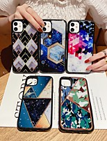 cheap -Case For Apple iPhone 7 8 7plus 8plus iPhone X XR XS XSMax iPhoneSE(2020) iPhone 11  iPhone 11 Pro  iPhone 11 Pro Max Shockproof  Glitter Shine Back Cover Geometric Pattern  Marble TPU