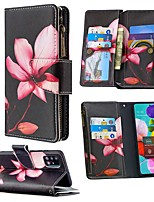 cheap -Case For Samsung Galaxy A51 A71 A70E A11 A21 A01 Note 10 Plus Wallet  Card Holder with Stand Full Body Cases Flower PU Leather For Galaxy M11 A31 A41 A81 A91 A30S A50S