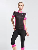 cheap -Women's Short Sleeve Cycling Jersey Cycling Shorts Black Purple Patchwork Bike Quick Dry Sports Patchwork Mountain Bike MTB Road Bike Cycling Clothing Apparel / Stretchy
