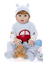 cheap -KEIUMI 22 inch Reborn Doll Baby & Toddler Toy Reborn Toddler Doll Baby Boy Gift Cute Washable Lovely Parent-Child Interaction Full Body Silicone 23D64-C215-T18 with Clothes and Accessories for Girls