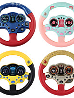 cheap -Simulated Driving Controller Simulated Driving Steering Wheel Copilot Toy Cartoon Music & Light Plastic Mini Car Vehicles Toys for Party Favor or Kids Birthday Gift
