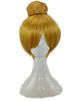 cheap -Synthetic Wig Cosplay Wig Tinker Bell Straight Cosplay Short Bob Wig Short Brown Blonde Synthetic Hair 12 inch Women's Cosplay Synthetic Blonde Brown hairjoy