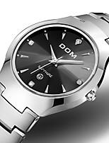 cheap -DOM Men's Sport Watch Quartz Sporty Casual Water Resistant / Waterproof Stainless Steel Black / Silver Analog - Black+Gloden Black Black / White / Japanese / Calendar / date / day / Japanese