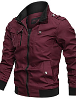 cheap -Men's Hiking Jacket Outdoor Windproof Multi-Pocket Jacket Cotton Hunting Climbing Camping / Hiking / Caving Black / Red / Army Green / Khaki / Blue