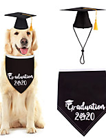 cheap -Dog Cat Bandanas & Hats Dog Bandana Dog Bibs Scarf Letter & Number Casual / Sporty Cute Christmas Birthday Dog Clothes Adjustable Black Costume Cotton Polyster