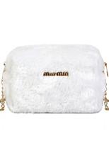 cheap -Women's Faux Fur Crossbody Bag Fur Bag Letter White / Black / Blushing Pink