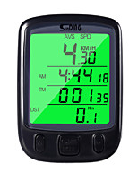 cheap -Bicycle Odometer Speedometer Computer Water Resistant Cycling Odometer Speedometer with Green LCD Backlight for Bike