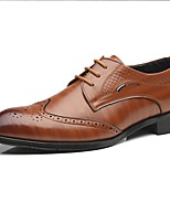 cheap -Men's Summer / Fall Daily Oxfords Faux Leather Black / Yellow / Red