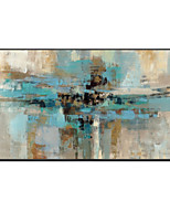 cheap -100% Hand painted High Quality Gray Abstract Blue Oil Painting Canvas Handmade Painted Home Decor Artwork Rolled Without Frame