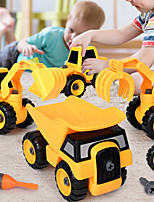 cheap -Building Toy Excavator Toy Construction Truck Toys Dump Truck Shovel Truck Blender Disassembly Plastic Mini Car Vehicles Toys for Party Favor or Kids Birthday Gift / Kid's