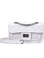 cheap -Women's Bags PU Leather Crossbody Bag for Event / Party / Daily White / Black / Blue / Purple / Fall & Winter