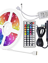 cheap -ZDM 5 Meters Waterproof Flexible LED Light Strips 90x5050 RGB SMD LEDs IR 44 Key Controller with Installation Package and 12V Adapter Kit