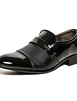 cheap -Men's Summer / Fall Daily Office & Career Oxfords Faux Leather Black