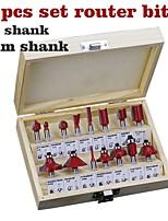 cheap -15 Piece Cutter Set 1/4 Shank Red