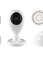 cheap -WiFi Smart Video Alarm Kits Include an IP Camera/A Motion Sensor/Two Contact Sensors and a Siren Alarm