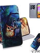 cheap -Case For Samsung Galaxy S20 Galaxy S20 Plus Galaxy S20 Ultra Wallet Card Holder with Stand Full Body Cases Oil Painting Owl PU Leather TPU for Galaxy A51 A71 A70E A81 A91 A11 A31 A41 A21