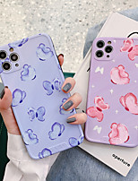 cheap -Case For APPLE  iPhone7 8 7plus 8plus  XR XS XSMAX  X SE  11  11Pro   11ProMax Pattern Back Cover Butterfly TPU oil painting IMD