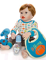 cheap -KEIUMI 22 inch Reborn Doll Baby & Toddler Toy Reborn Toddler Doll Baby Boy Gift Cute Washable Lovely Parent-Child Interaction Full Body Silicone 23D64-C236-T06 with Clothes and Accessories for Girls