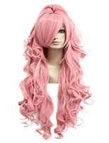 cheap -Synthetic Wig Cosplay Wig Luka 035G Vocaloid Curly Cosplay With Ponytail Wig Long Pink+Red Pink Synthetic Hair 28 inch Women's Cosplay Pink hairjoy