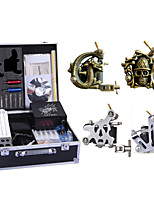 cheap -4 Tattoo Machines with power supply, 50 tattoo needles , tips & needles complete tattoo kit at such affordable price is a must option for you.