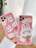 cheap -Case For APPLE  iPhone 7 8 7plus 8plus  XR XS XSMAX  X SE  11  11Pro   11ProMax Pattern Cute Rabbit Back Cover Word Phrase Cartoon TPU