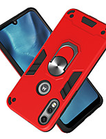 cheap -Case For Motorola Moto E5 E5 Play E7 Moto G8 power G8 plus G8 play G6 play P40 P40 power one Macro one Hyper Shockproof Ring Holder Back Cover Solid Colored TPU PC Metal