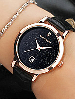 cheap -Women's Quartz Watches Fashion Black Pink PU Leather Chinese Quartz Black Red Blushing Pink Casual Watch 30 m Analog One Year Battery Life