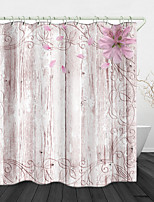 cheap -Wood Petals Digital Print Waterproof Fabric Shower Curtain for Bathroom Home Decor Covered Bathtub Curtains Liner Includes with Hooks