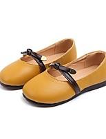 cheap -Girls' Flats Comfort PU Little Kids(4-7ys) White / Yellow / Pink Summer
