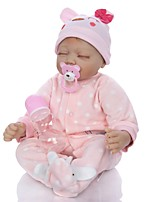 cheap -KEIUMI 22 inch Reborn Doll Baby & Toddler Toy Reborn Toddler Doll Baby Girl Gift Cute Lovely Parent-Child Interaction Tipped and Sealed Nails 3/4 Silicone Limbs and Cotton Filled Body 22D65-C36-H94