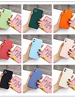 cheap -Case For Apple scene picture iPhone 11 11 Pro 11 Pro Max solid color liquid silicone material fine pore fine frosted mobile phone case
