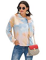 cheap -Women's Hoodie Tie Dye Rainbow Casual Hoodies Sweatshirts  Blue Yellow Orange