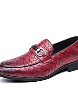 cheap -Men's Summer Daily Loafers & Slip-Ons PU Black / Red / Brown
