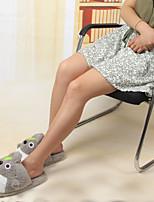 cheap -Adults' Kigurumi Pajamas Slippers Anime Totoro Onesie Pajamas Plush Gray Cosplay For Men and Women Animal Sleepwear Cartoon Festival / Holiday Costumes