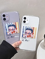 cheap -Case For Apple iPhone 7 iPhone 7P iPhone 8 iPhone 8P iPhone X iPhone iPhone XS iPhone XR iPhone XS max iPhone 11 iPhone 11 Pro iPhone 11 Pro MaxTranslucent Pattern Back Cover Word Phrase Cartoon TPU