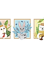 cheap -Cute Animal Wall Stickers Decorative Wall Stickers, PVC Home Decoration Wall Decal Wall Decoration / Removable
