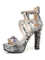 cheap -Women's Sandals Summer Platform Open Toe Business British Party & Evening Office & Career PU White / Black / Yellow