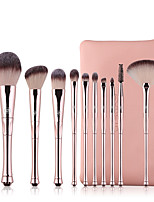 cheap -Professional Makeup Brushes 10pcs Soft Adorable Artificial Fibre Brush Plastic for Blush Brush Foundation Brush Lash Brush Eyebrow Brush Eyeshadow Brush Makeup Brush Set