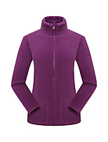cheap -Women's Hiking Jacket Hiking Fleece Jacket Winter Outdoor Thermal / Warm Windproof Breathable Warm Top Camping / Hiking Hunting Fishing Dark Purple / Light Green / Pink / Rose Red