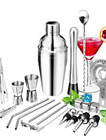 cheap -Cocktail Set 22pcs Barware Tools Cocktails Mixer Whiskey Rum Liqueur Shaker Making Kits