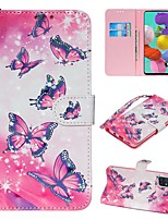 cheap -Case For Samsung Galaxy S20 Ultra Note 10 Plus S10E A51 A71 A20E Wallet Card Holder with Stand Full Body Cases Butterfly PU Leather Galaxy A10 A20 A30 A30S A40 A50 A50S A70 A80 A90 A2 Core