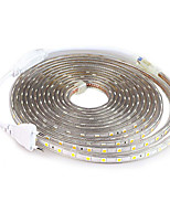 cheap -5M SMD 5050 LED Strip light Waterproof 220V 5050 LED Strip Lights Diode Tape Holiday Decoration Lamp LED String Ribbon 60LEDs/M With EU Plug