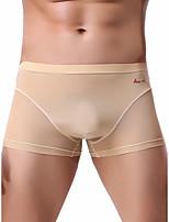 cheap -Men's Mesh Boxers Underwear - Normal Low Waist Light Blue White Black M L XL