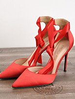 cheap -Women's Heels Spring / Summer Stiletto Heel Pointed Toe Daily PU Nude / Black / Red