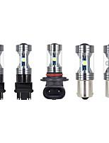 cheap -OTOLAMPARA 2pcs Car Light Bulbs 30 W SMD 3535 3000 lm 3 LED Fog Lights For universal All Models 2018 / 2016 / 2017