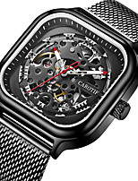 cheap -Men's Sport Watch Automatic self-winding Sporty Stylish Casual Water Resistant / Waterproof Analog White Black Gold / Stainless Steel