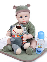 cheap -KEIUMI 18 inch Reborn Doll Baby & Toddler Toy Reborn Toddler Doll Baby Boy Gift Cute Lovely Parent-Child Interaction Tipped and Sealed Nails Half Silicone and Cloth Body with Clothes and Accessories