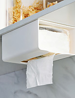 cheap -Punch-free Kitchen Paper Storage Box Paper Box Wall-mounted Paper Towel Holder Toilet Tissue Box
